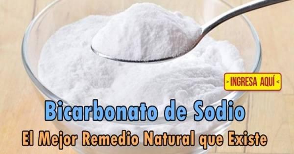 El Bicarbonato de Sodio es el Mejor remedio natural que existe y el más económico