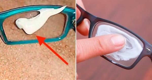 Frota esto en tus en tus gafas o lentes con aumentos y elimina todos los arañazos al instante