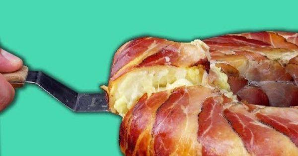 Haz un gratinado de papas tú mismo con esta jugosa receta: rosca de papa y jamón