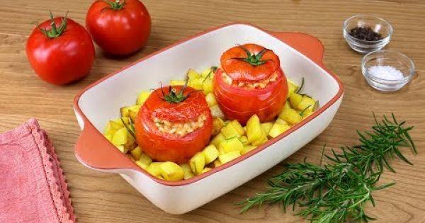 Tomates rellenos de risotto: una rica receta para la pausa del mediodía