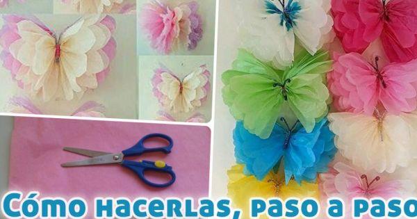 Cómo hacer mariposas con papel de seda