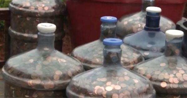 Desde 1970 se dedicaba a recoger monedas. ¿Quieres saber qué le dijeron en el banco?